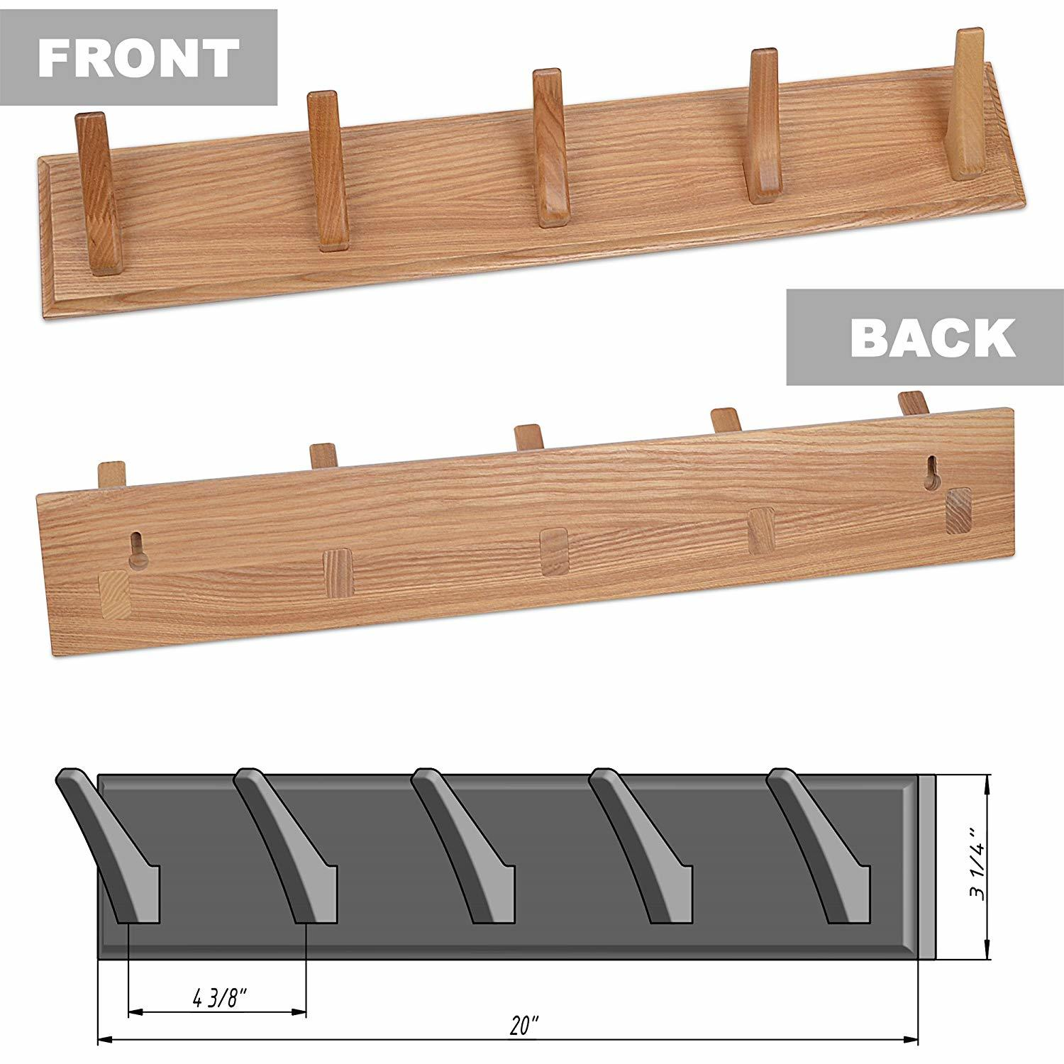 shoe storage hacks features wall mounted coat rack are manufactured from solid, natural wood (ash-tree)