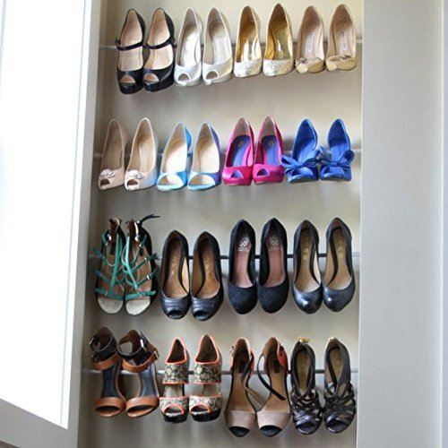 shoe storage hacks featuring high quality tension rods, made of superior grade steel