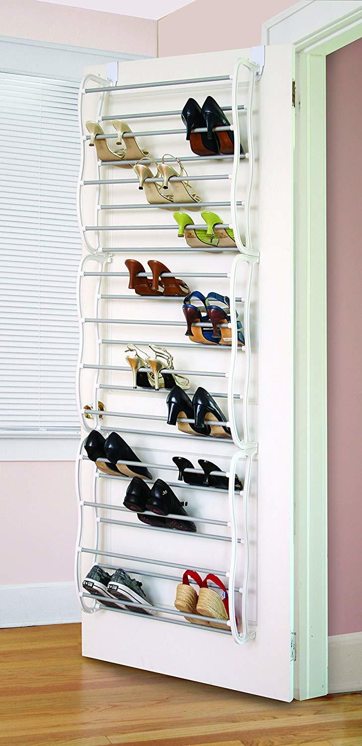 this is a non slip rungs keep shoes in place for shoe storage hacks