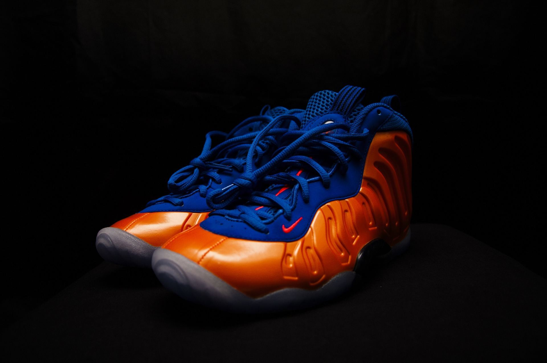 blue and orange sneaker